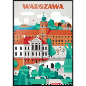 Plakat NIEMAPA Warszawa
