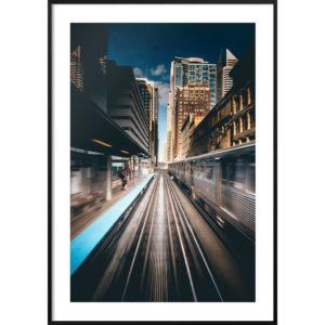 Plakat Stacja metra w Chicago
