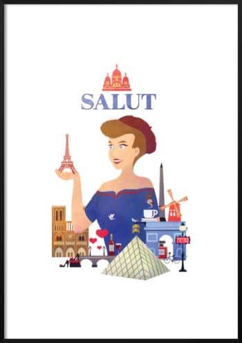 cześć francja plakat