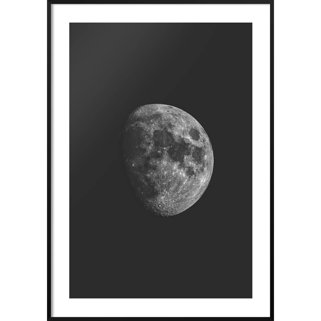 Plakat Księżyc Czarno Biały