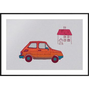 plakat auto dla dzieci