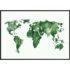 Plakat Mapa świata zielona