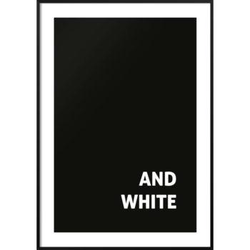 plakat czarny napis