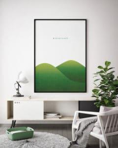 mock up poster frame in hipster interior background, scandinavia