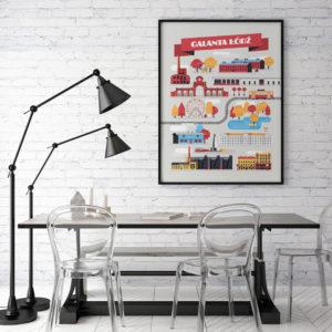 Plakat Galanta łódź w jadalni