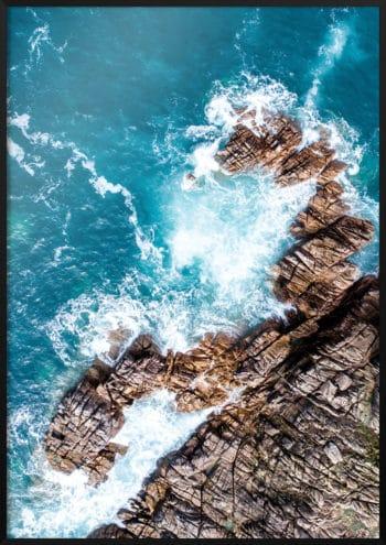 plakat skaliste wybrzeże
