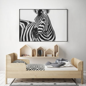 Plakat Zebra w pokoju dziecka