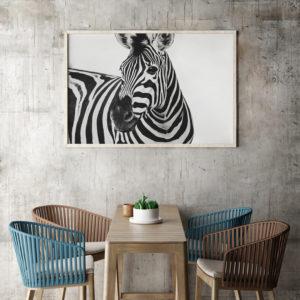 Plakat Zebra w jadalni