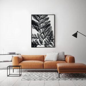 Liść czarno-biały 4