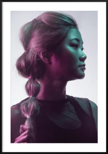 plakat kolorowy portret