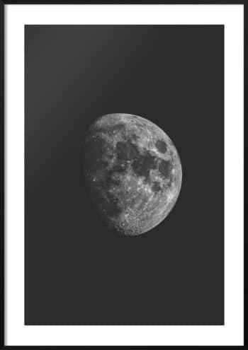 plakat księżyc czarno-biały