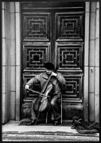 Plakat Muzyk na ulicach Rygi