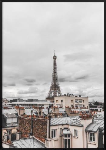 plakat Paryż z góry