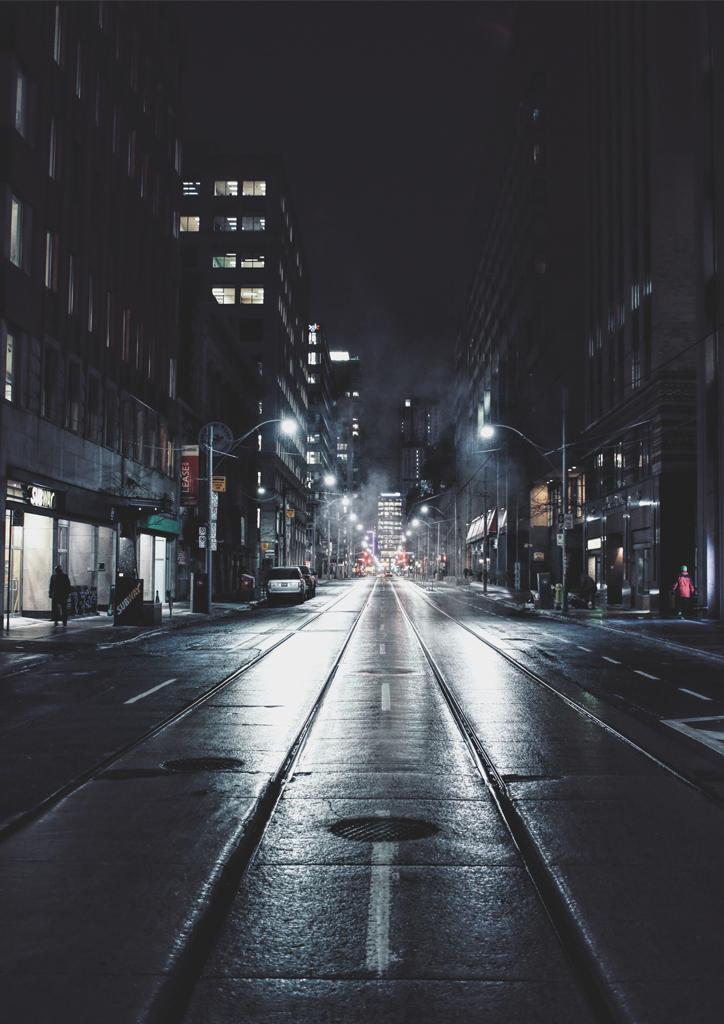 Toronto W Nocy Towar Autorskie Plakaty Na ścianę
