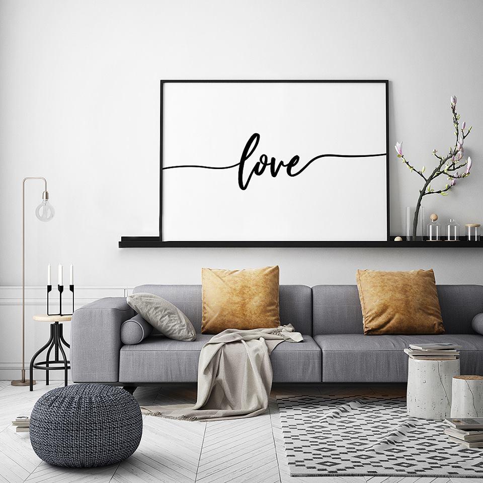 """plakat pełen miłości... plakat typograficzny z napisem """"love"""""""