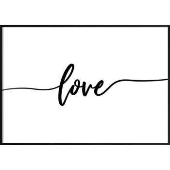 plakat z napisem miłość