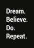 dream believe do repeat czarny