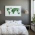 mapa świata papierowa na ścianę