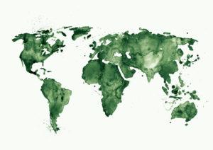 mapa swiata zielona
