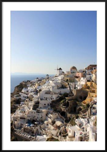 Plakat Santorini Grecja no.1