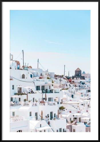 Plakat Santorini Grecja NO.2