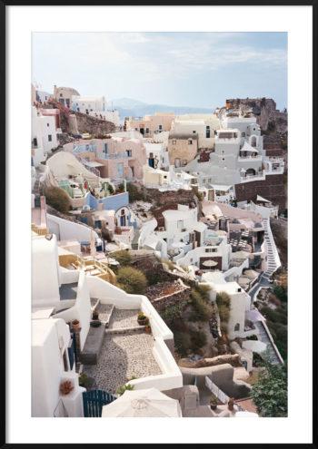 Plakat Santorini Grecja NO.3
