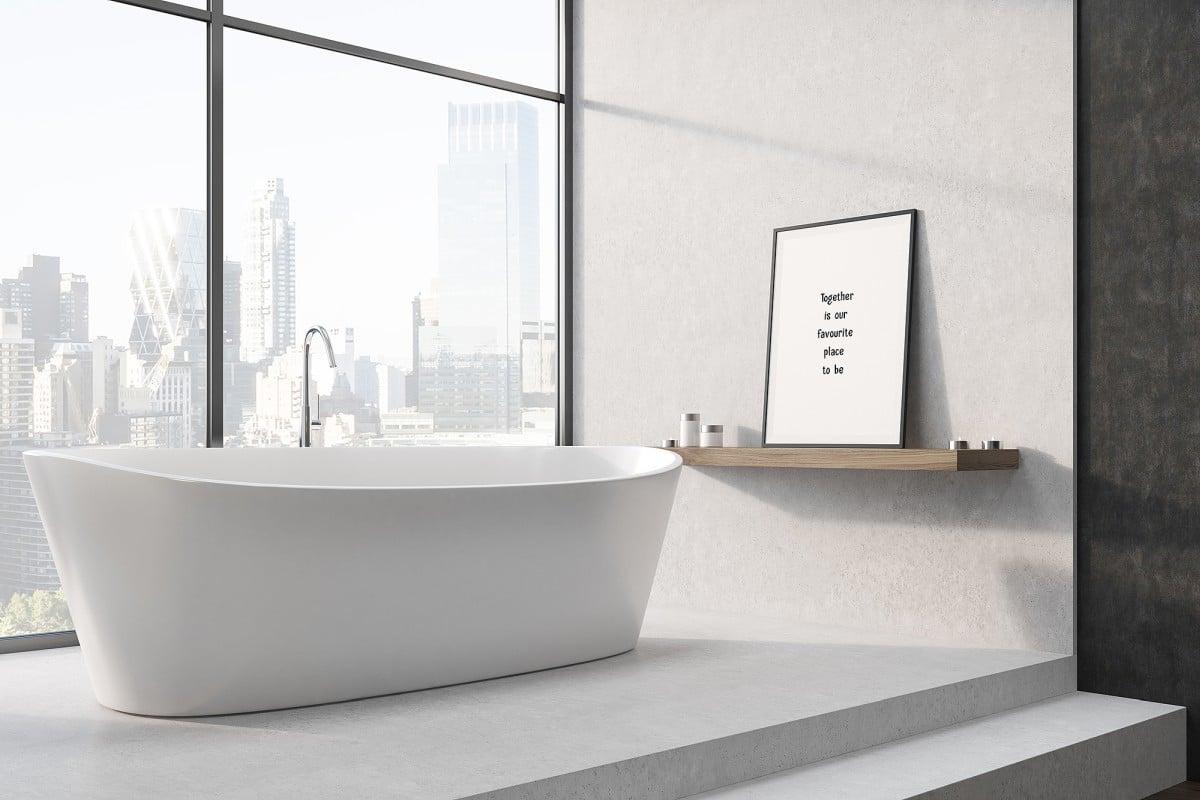 Nowe życie łazienki Towar Autorskie Plakaty Na ścianę
