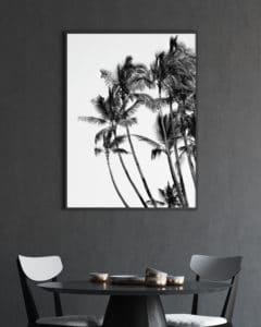 Plakat Plamy czarno-biały