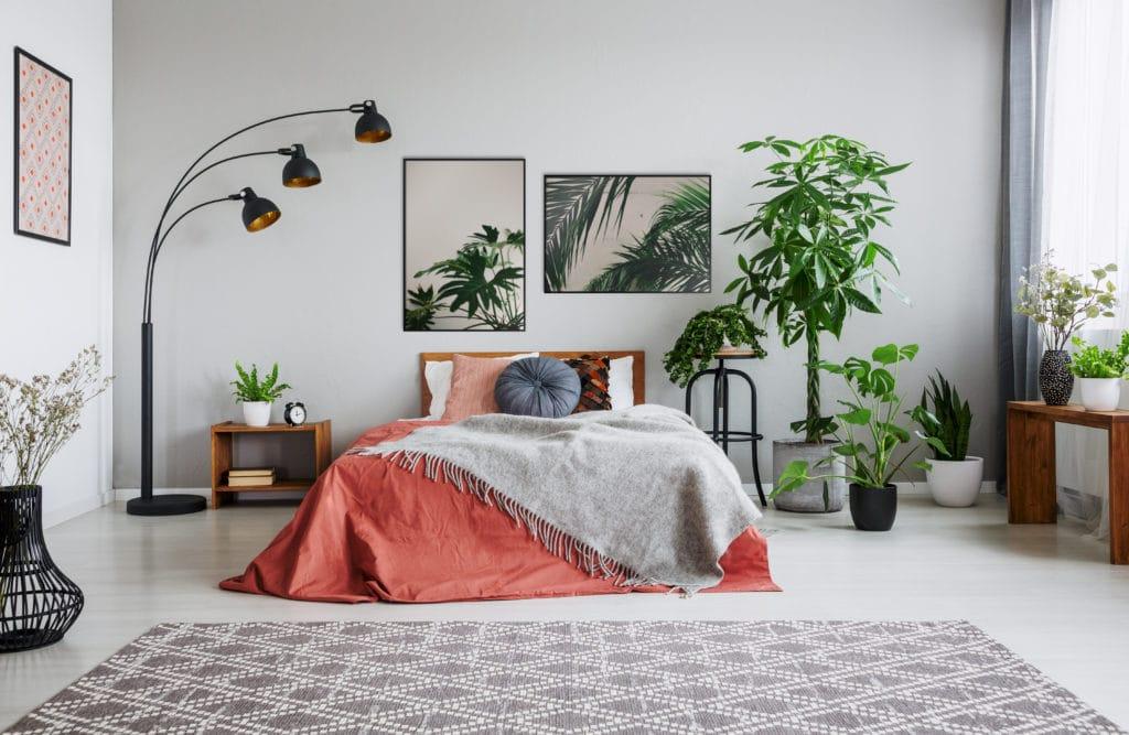 Plakaty zielone w sypialni
