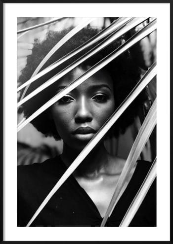 kontrastowy portret kobiety