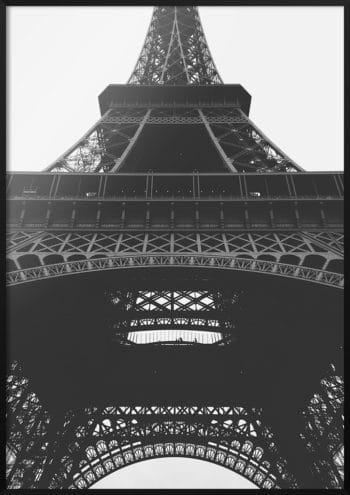 plakat wieża eiffela z dołu