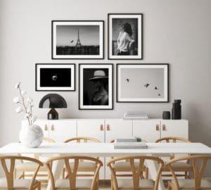 Plakaty: Klasyczny Paryż; Łabędź; Radość; Kobieta w kapeluszu; Ptaki na niebie