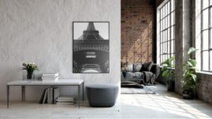 Plakat Wieża Eiffela (z dołu)
