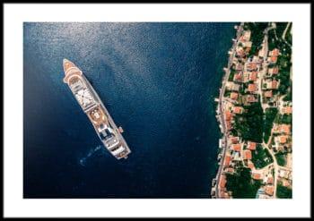 Wybrzeże Chorwacji plakat