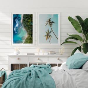 Plakat Rajska plaża, Palmy