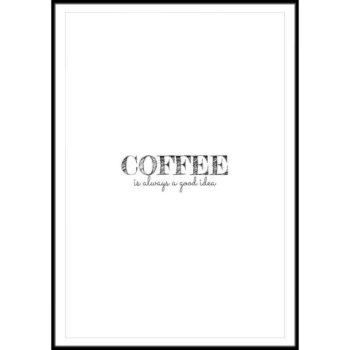 najlepsze plakaty z napisem kawa
