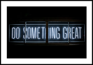 Plakat Do something great