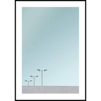 minimalistyczny plakat na ścianę