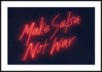 plakat z napisem neon