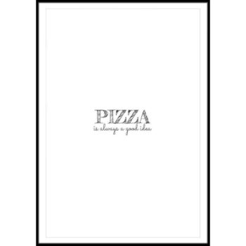 plakat z napisem pizza