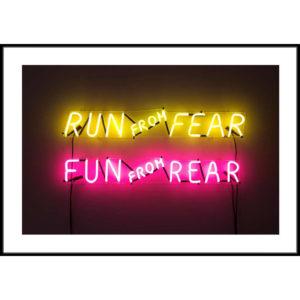 Plakat Run form fear
