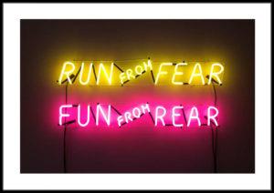 Plakat Run from fear
