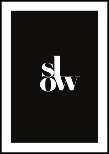 plakaty w sylu slow life