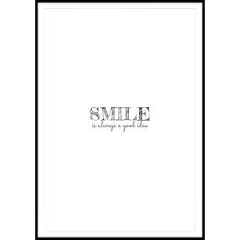 plakat z napisem uśmiech