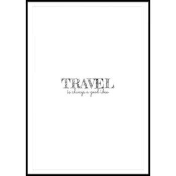 plakat dla kochających podróże