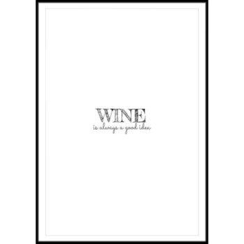 plakaty z winem do kuchni
