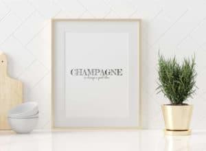 Plakat Champagne