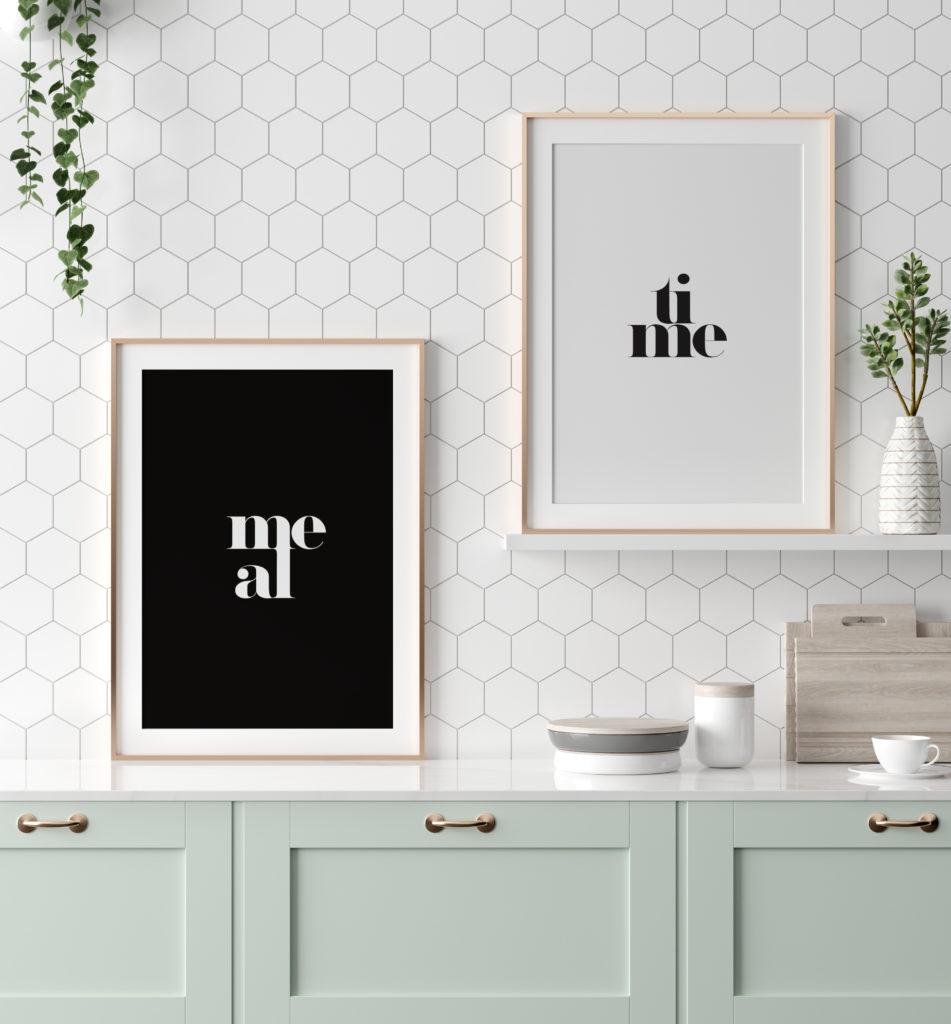 modne plakaty do kuchni