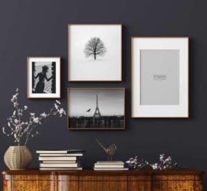 Plakat Kobieta w oknie; Samotne drzewo; Klasyczny Paryż; Paris is always a good idea