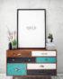 komoda z kolorowymi szufladami